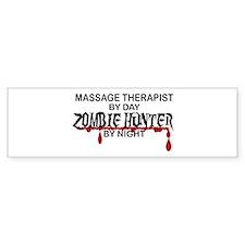 Zombie Hunter - Massage Therapist Bumper Sticker