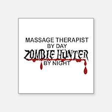 """Zombie Hunter - Massage The Square Sticker 3"""" x 3"""""""