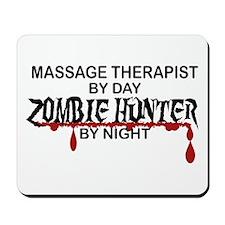 Zombie Hunter - Massage Therapist Mousepad