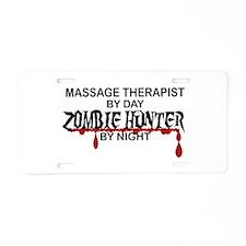Zombie Hunter - Massage The Aluminum License Plate