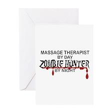 Zombie Hunter - Massage Therapist Greeting Card