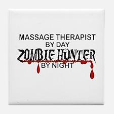 Zombie Hunter - Massage Therapist Tile Coaster