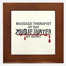 Zombie Hunter - Massage Therapist Framed Tile
