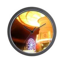 fair midway at night Wall Clock