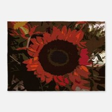 Art Of Flowers 5'x7'Area Rug