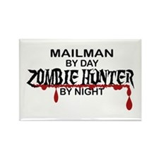 Zombie Hunter - Mailman Rectangle Magnet