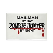 Zombie Hunter - Mailman Rectangle Magnet (10 pack)