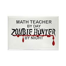 Zombie Hunter - Math Teacher Rectangle Magnet