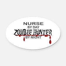 Zombie Hunter - Nurse Oval Car Magnet