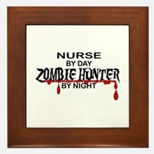 Zombie Hunter - Nurse Framed Tile