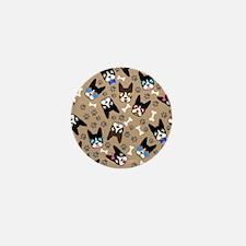 Boston Terrier Cute Mustache Mini Button (10 pack)