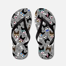 cute boston terrier dog Flip Flops