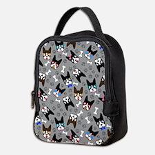 cute boston terrier dog Neoprene Lunch Bag
