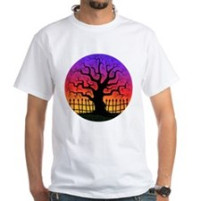 Halloween Spooky Tree at Sunset White T-Shirt