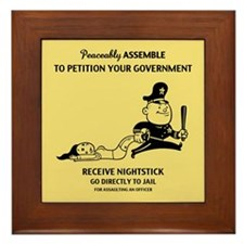 Peaceable Assault Framed Tile
