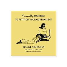 protest-assault-TIL Sticker