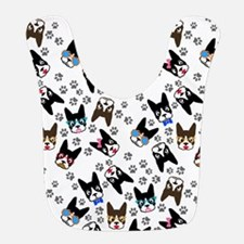cute boston terrier dog Bib