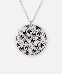 cute boston terrier dog Necklace