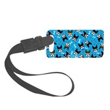 cute boston terrier dog Luggage Tag