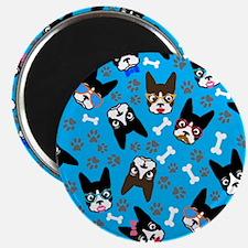 cute boston terrier dog Magnet