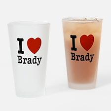 I love Brady Drinking Glass