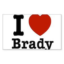 I love Brady Decal