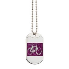 Bicycle Hot Pink Dog Tags