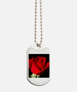 Red Rose Dog Tags