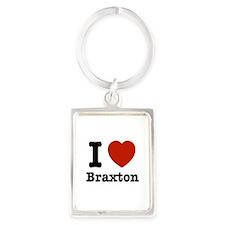 I love Braxton Portrait Keychain