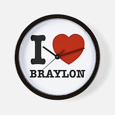 I love Braxton Wall Clock