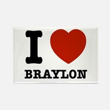 I love Braxton Rectangle Magnet
