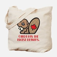 Canada Nicest Beavers Tote Bag