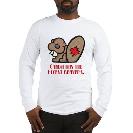 Canada Nicest Beavers Long Sleeve T-Shirt
