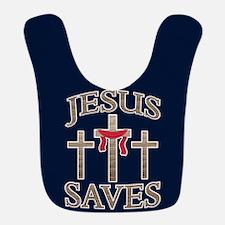 Jesus Saves Polyester Baby Bib