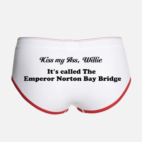 Kiss My Ass, Willie - Women's Boy Brief