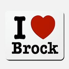I love Brock Mousepad