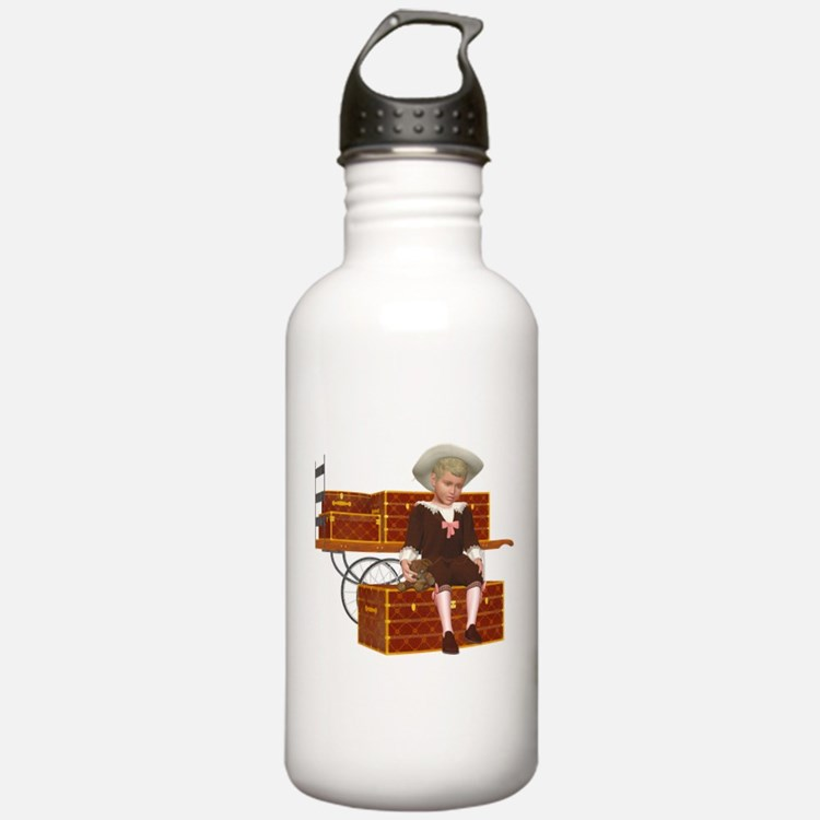 Vintage boy 2 Water Bottle
