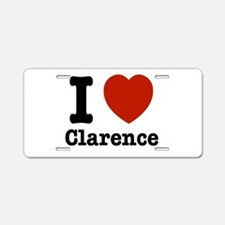 I love Clarence Aluminum License Plate