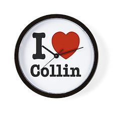 I love Collin Wall Clock
