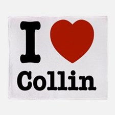 I love Collin Throw Blanket