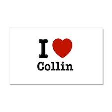 I love Collin Car Magnet 20 x 12