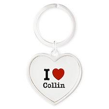 I love Collin Heart Keychain
