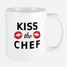 kiss the chef with red lips Mugs