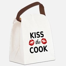Kiss the cook with red lips Canvas Lunch Bag