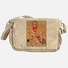 Vintage Rowing Portrait Messenger Bag