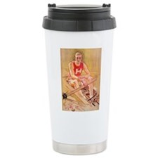 Vintage Rowing Portrait Travel Coffee Mug