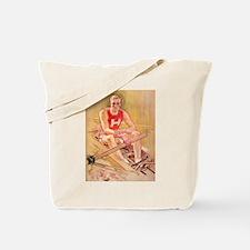 Vintage Rowing Portrait Tote Bag