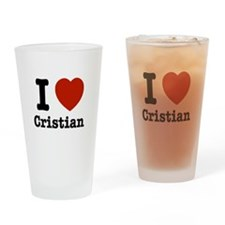 I love Cristian Drinking Glass