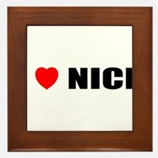 I Love Nice, France Framed Tile