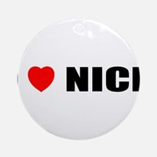 I Love Nice, France Ornament (Round)